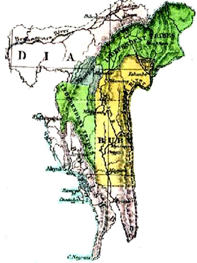 Kuki Country Map